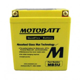 MotoBatt MB5U gel battery