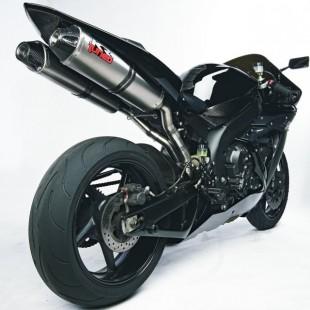 """KR-Tuned Titanium """"Dual Slip-on"""" Demperset Yamaha R1 '07-'08"""